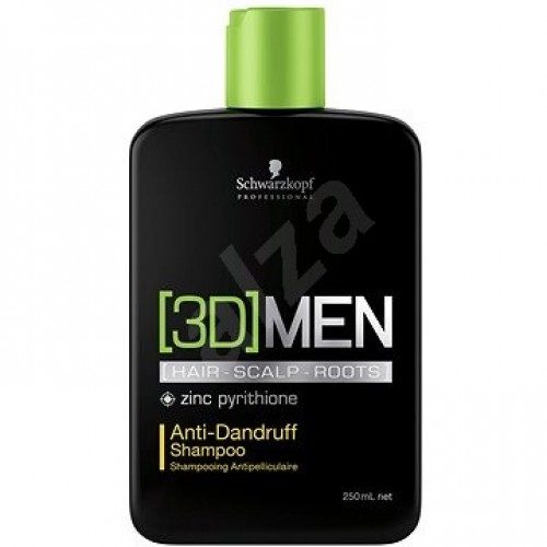 3D MEN Anti-Dandruff šampón 250ml, Schw.