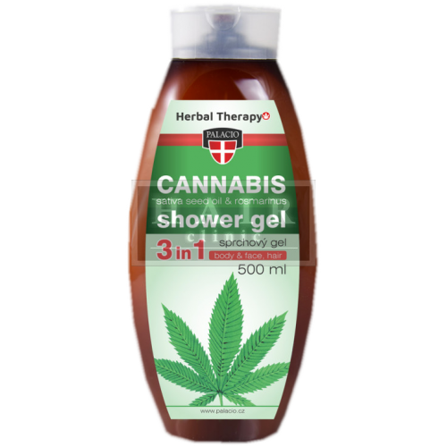 Sprchový gél 3v1 Cannabis Rosmarinus 500ml, PALACI